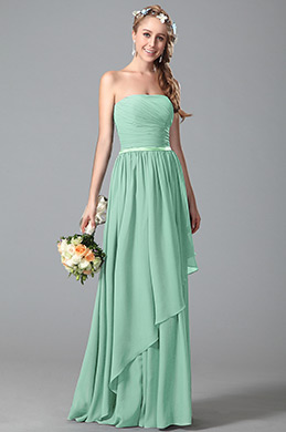 eDressit Strapless Green Bridesmaid Dress With Asymmetric Hem (07156304)