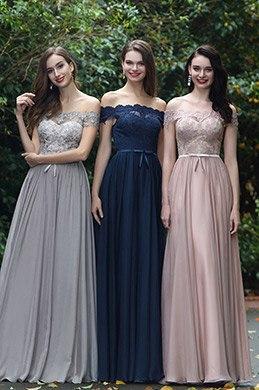 eDressit Marineblau Schulterfrei Spitze Formell Kleid (02171905)