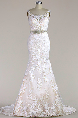 eDressit Sleeveless Lace Mermaid Wedding Dress(F02010003C)