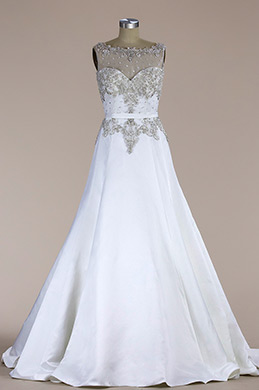 eDressit Sleeveless Beaded Mermaid Wedding Dress (F09060216)