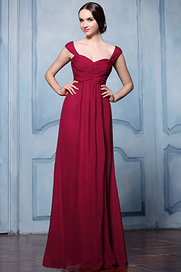 eDressit Burgundy Straps Empire Waistline Bridesmaid Dress (07157017)