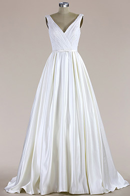 eDressit Sleeveless V Neck Mermaid Wedding Dress (F09616013)