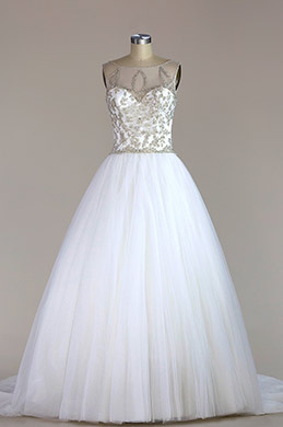 eDressit Sleeveless Beaded Mermaid Wedding Dress (F04014468)
