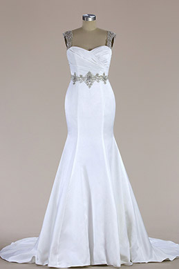 eDressit Sleeveless Beaded Mermaid Wedding Dress (F09060015)
