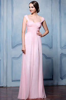 eDressit Pink Straps Empire Waistline Bridesmaid Dress (07157001)