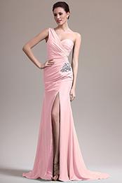 eDressit Robe Demoiselle d'Honneur Fendue Une Bretelle Rose (07157101)