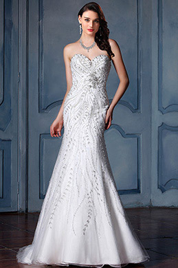 eDressit Beaded Sweetheart Mermaid Wedding Dress (F09413532)