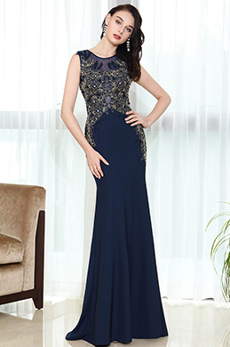 eDressit Blue Lace Beaded Night Dress Ball Gown (36170705)