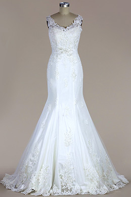 eDressit Sleeveless Lace Mermaid Wedding Dress (FP0617332)