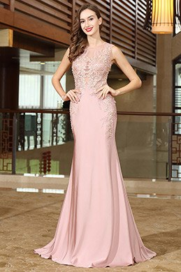 eDressit Pink Lace Beaded Wedding Guests Dress (36170701)