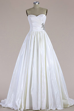 eDressit Strapless Pleated Mermaid Wedding Dress (F04014469)