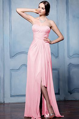 eDressit Trägerlos Rosa Brautjungfernkleid Abendkleid (07156001)