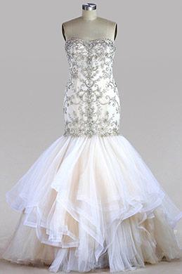 eDressit Strapless Beaded Tulle Wedding Dress (F04014130)