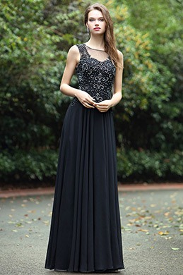 eDressit Black Sweetheart Evening Dress with Lace and Beads (36170400)