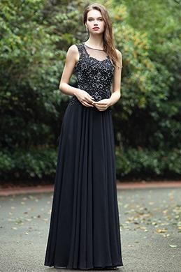 eDressit Schwarz Herz Ausschnitt Spitze Perlen Abendkleid (36170400)