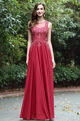 eDressit Burgundy Sweetheart Formal Dress with Lace and Beads (36170417)