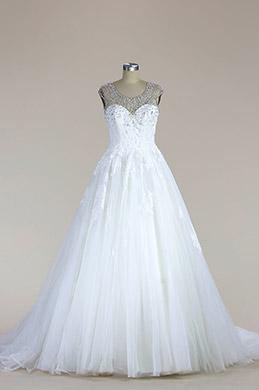 eDressit Sleeveless Beaded Mermaid Wedding Dress (F04014512)