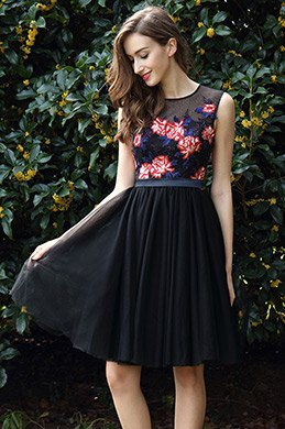 eDressit Elegant Black Flower Girl Party Dress (04170300)