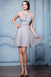 eDressit Grey Halter Cocktail Bridesmaid Dress (07156508)