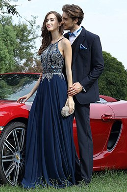 eDressit Pretty Blue Beaded Prom Evening Dress (36170205)