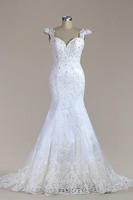 eDressit Sweetheart Beaded Lace Mermaid Wedding Dress (F02010023)