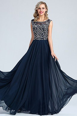 eDressit Blue Beaded A-line Prom Gown Formal Wear (36173105)