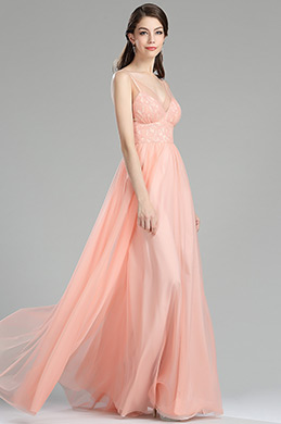 eDressit Blush Lace Bridesmaid Occasion Dress for Women (00180210)