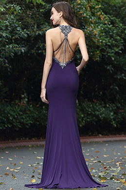 eDressit Sparkly Purple Beaded Designer Soiree Evening Gown (00171506)