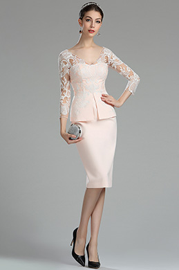 eDressit Pink and White Lace Mother of the Bride Groom Dress (26180201) b6a3b69be