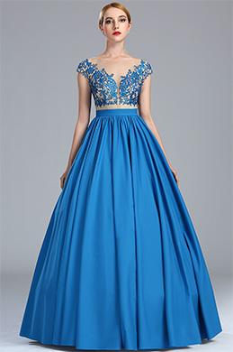 eDressit Robe de Bal Blue avec Dentelle Haute Qualité (02173905)