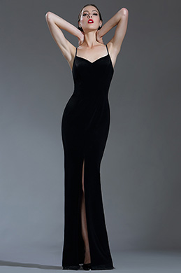 eDressit Sexy Velvet Spaghetti Black Tie Evening Dress (00181700)