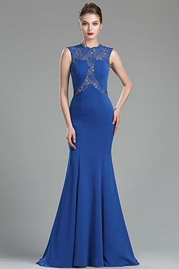 eDressit Robe de Soirée Longue Bleu Jupe Sirène Sans Manche (00174605)