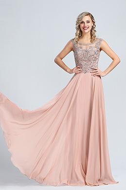 eDressit Elegant Chiffon Perlen A Linie Formal Abendkleid(36173146)