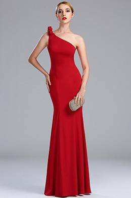eDressit Robe de Soirée Simple Une Bretelle A-line Rouge (00173402)