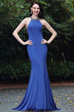 eDressit Elegant Blue Beaded Designer Backless Evening Dress (00171505)