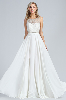 eDressit Sleeveless White Beaded Formal Dress (36173907)