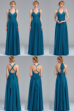 eDressit Blue Strapped Convertible Bridesmaid Dress (07170205)