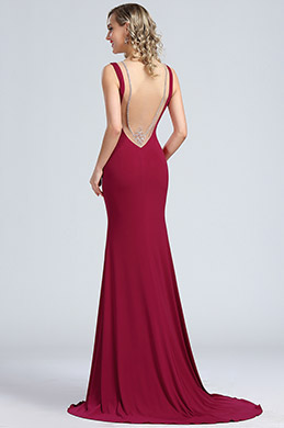 eDressit Rosy Red Sleeveless Long Maternity Evening Gown (00174412)