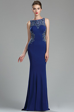 eDressit Elegant Navy Blue Beaded Formal Evening Dress (36174705)
