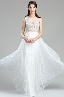 eDressit Sweet White Floral Lace Engagement Wedding Dress (00180307)
