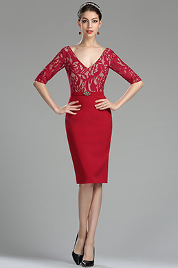 eDressit Elegant Red Lace Mother of the Bride/Groom Dress (26180302)