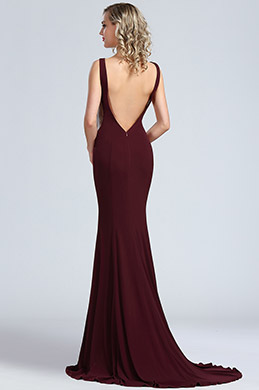 eDressit Elegant Burgundy Mermaid Prom Night Dress (00174517)