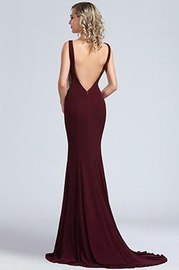 eDressit Elegant Burgundy Mermaid Prom Night Dress (00174517)