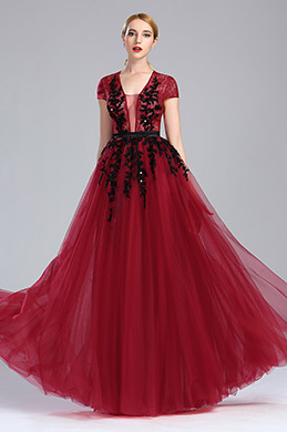 eDressit Red Beaded Lace Prom Carpet Formal Dress (02173817)