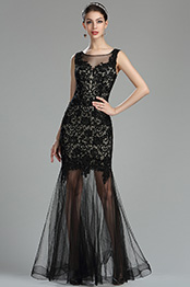 eDressit Sexy Black Lace Long Prom Dress Formal Gown