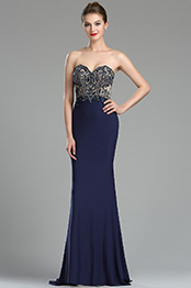 eDressit Sparkly Navy Blue Beaded Backless Evening Dress