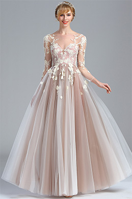 eDressit Elegant Long Sleeves Lace Appliques Fancy Prom Dress (02174246)