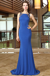 eDressit Blue Embroidery Beaded Formal Evening Party Dress (02171605)
