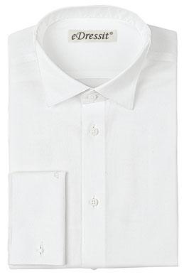 eDressit Custom White Non-iron 100% Cotton Tuxedo Shirt (29180607)