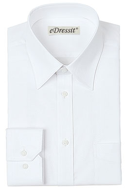 eDressit Custom White Check 100% Cotton Dress Shirt (29180507)